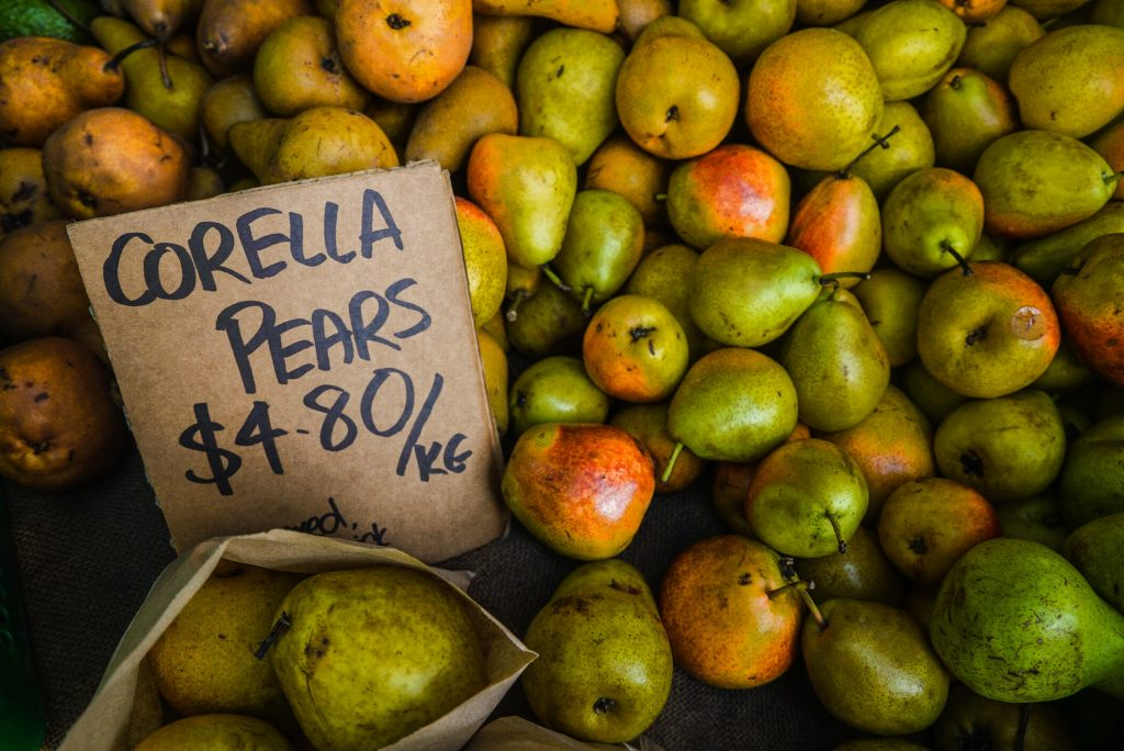 Corella pears for sale