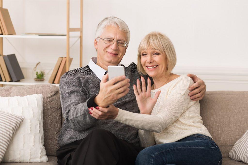 seniors on the phone